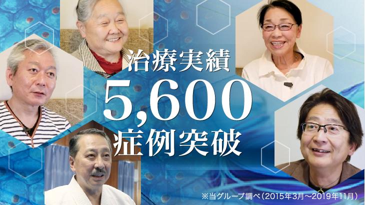 ひざ治療5600症例突破報告